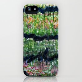 Humid Meadow with Wildflowers iPhone Case
