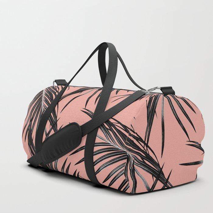 Black Palm Leaves Dream #5 #tropical #decor #art #society6 Duffle Bag