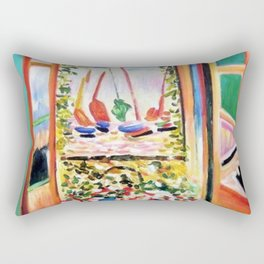 The Open Window Coastal - Floral and Maritime Collioure oil painting by Henri Matisse oil paint Rectangular Pillow