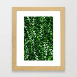 Authentic Aboriginal Art - Grass Framed Art Print