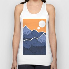 The mountains under the two suns Unisex Tank Top