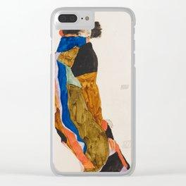 """Egon Schiele """"Moa"""" Clear iPhone Case"""