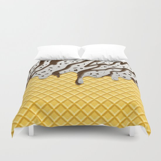 Cookie Ice Cream Duvet Cover