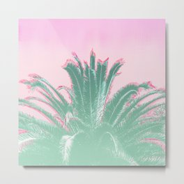 Palm Tree Leaves Tropical Vibes Design Metal Print