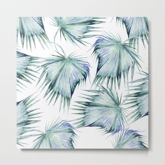 Floating Palm Leaves Metal Print