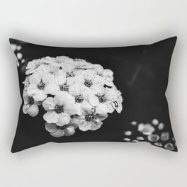Black and white flower Rectangular Pillow