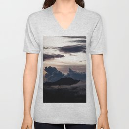 Clouds in the mountains Unisex V-Neck
