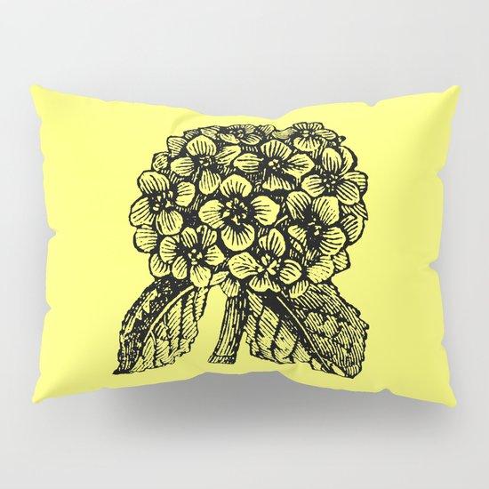 Yellow Hydrangea Pillow Sham