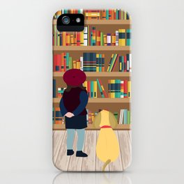 Take a book to kennel iPhone Case