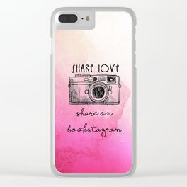 SHARE LOVE . SHARE ON BOOKSTAGRAM Clear iPhone Case