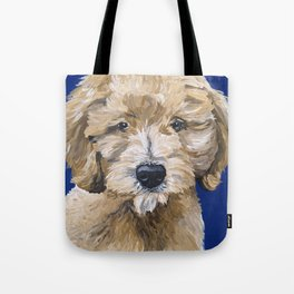 Doodle Dog Art, Golden-Doodle, Fun Golden Doodle Art Tote Bag
