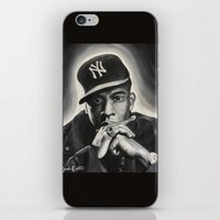 jay z iPhone & iPod Skins featuring Jay-Z by Sarah Painter