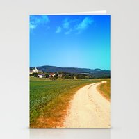 hiking Stationery Cards featuring Another lonely hiking trail by Patrick Jobst