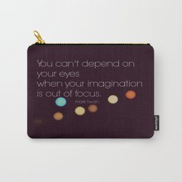 Imagination Mark Twain Quote Carry-All Pouch