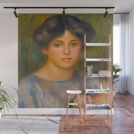 """Auguste Renoir """"Jeune fille aux roses (Young girl with flowers)"""" Wall Mural"""