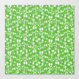 Green Floral Pattern Canvas Print