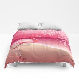 FLAMINGO BEACH | pink Comforters