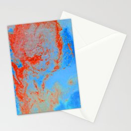 Psycho - Ring of Fire Acrylic Paint Flow Art by annmariescreations Stationery Cards