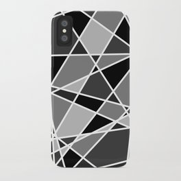 Shattered Charcoal iPhone Case