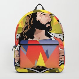Super Jesus [Parody Mashup Satire] Backpack