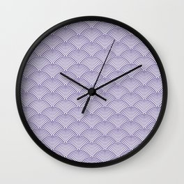 Japanese Dots Fade UltraViolet Wall Clock