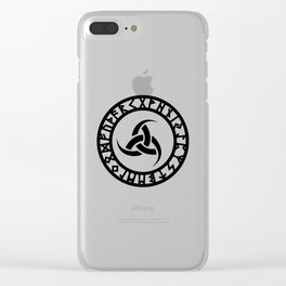 Triple Horn of Odin Clear iPhone Case