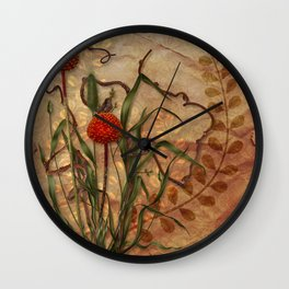 Wild Weeds Wall Clock
