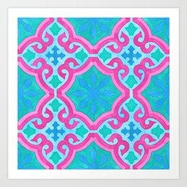THE MOORS OF PALM SPRINGS, pattern by Frank-Joseph Art Print