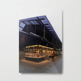 Barcelona Streets Mercado de La Boqueria Metal Print