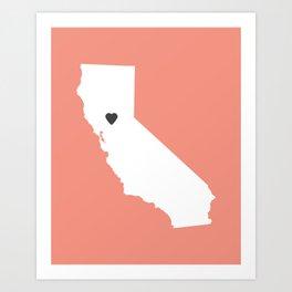 California Love in Peach Art Print