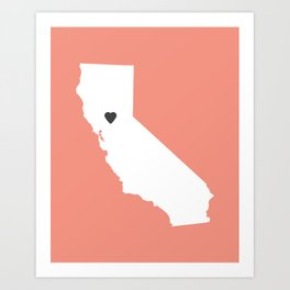 California Love in Peach Art Print