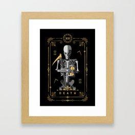 Death XIII Tarot Card Framed Art Print