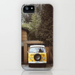 Yellow Van Ready For Road iPhone Case