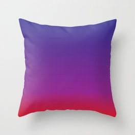 Blue+Red=Purple Throw Pillow