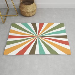 Retro Stripes In Transparent Background, A Set Of Several Vintage Classic Colors, No 02 Rug