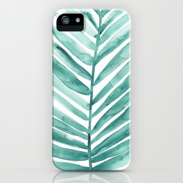 Green Palm Leaf iPhone Case