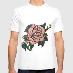 Rose Mens Fitted Tee White MEDIUM