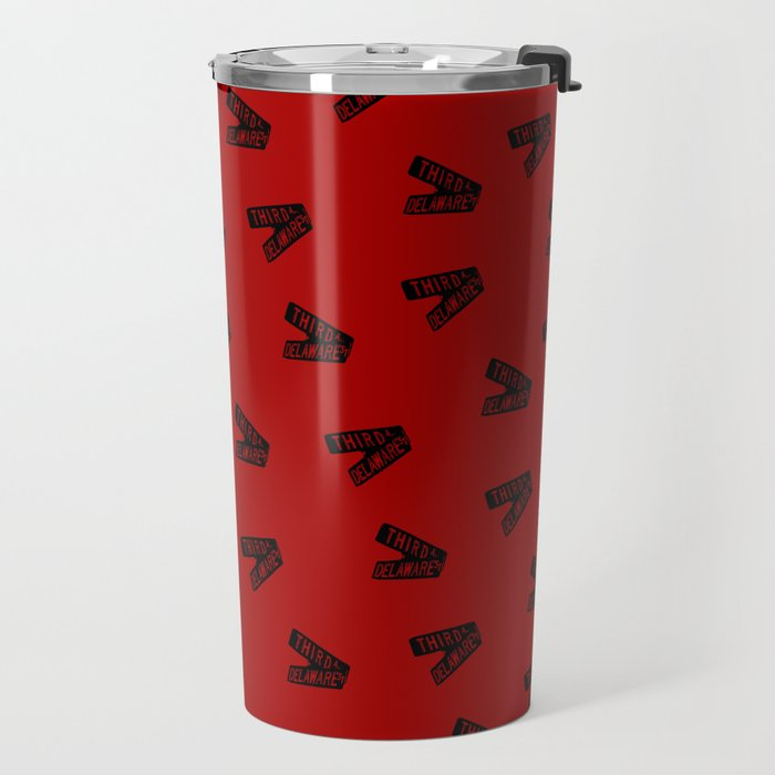 Roseanne - Third and Delaware - Sign - Pattern Travel Mug