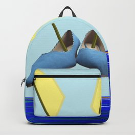 Flying with May towards the West in May - shoes stories Backpack