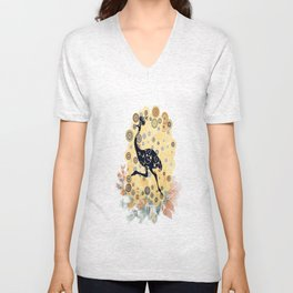 Little ostrich in colors Unisex V-Neck