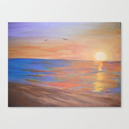 Morning at the Beach Canvas Print