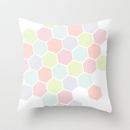 Pastel Buzz Throw Pillow