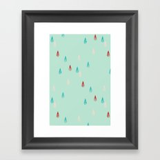 Raindrop Repeat Framed Art Print