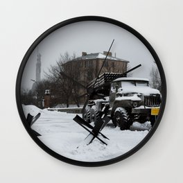 Echoes of the Ongoing Riot Wall Clock