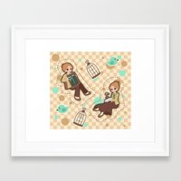 bioshock infinite Framed Art Prints featuring Bioshock Infinite - Luctece Twins by Choco-Minto