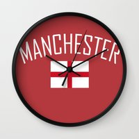 manchester Wall Clocks featuring Manchester by Earl of Grey