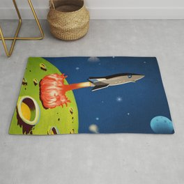 The World Of Outer Space Travel Rug
