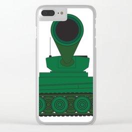 Tank Turret Gun Barrel Clear iPhone Case