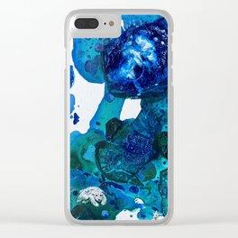Polar Bear Swim, Environmental Tiny World Collection Clear iPhone Case