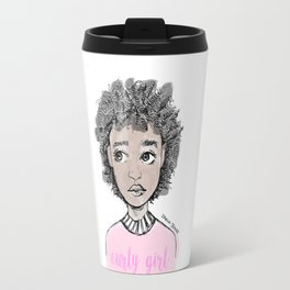 Curly Girl Travel Mug